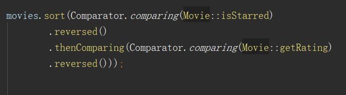 使用Java8的Comparator排序List对象集合